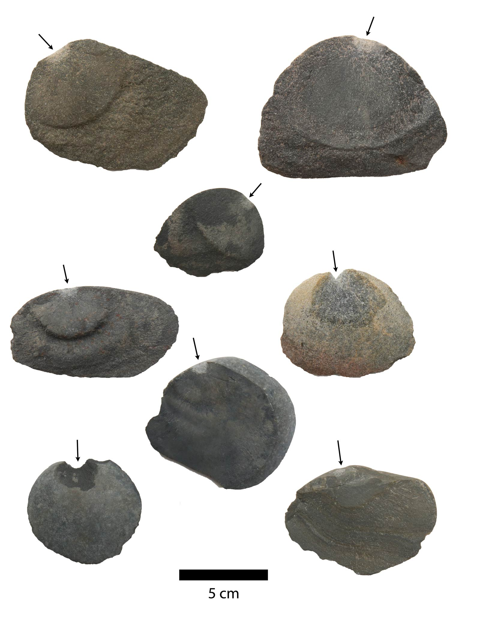 one-sided stone tools