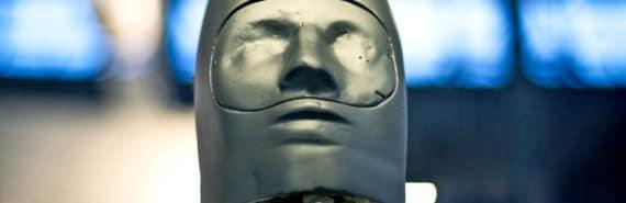 creepy robot face
