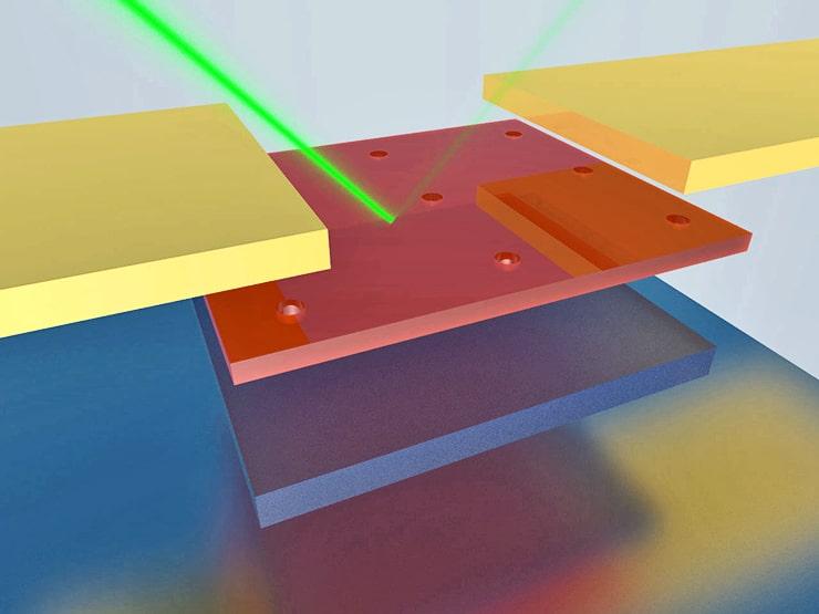 nanoscale photodetector illustration