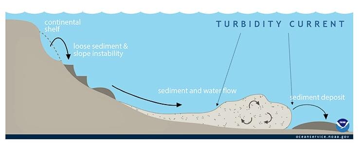 turbidity flow model