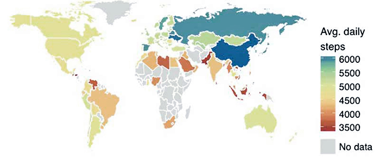 world map showing activity inequality