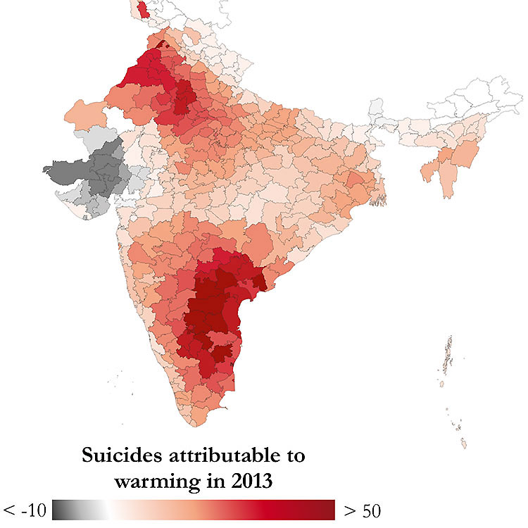 map of suicides in India