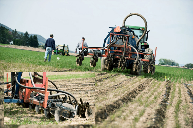manure injection method with inset of close-up