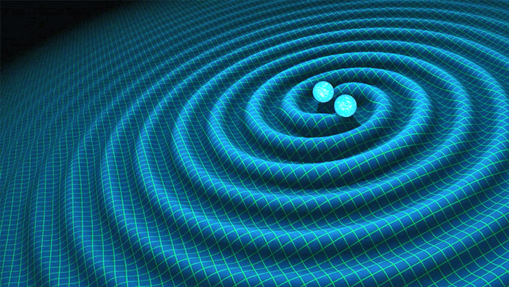 gravitational waves illustration