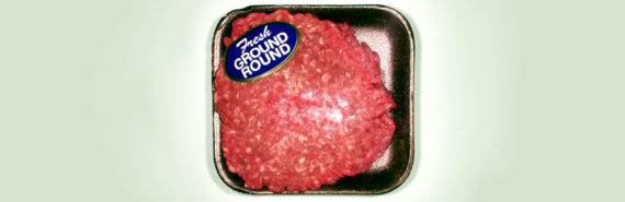 ground round red meat in package