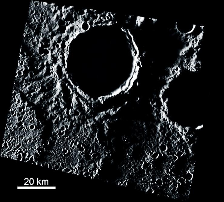 mercury ice image with scale bar