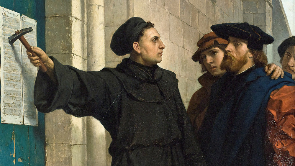 Pauwels depiction of Luther posting 95 theses