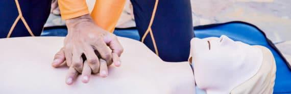 CPR training dummy