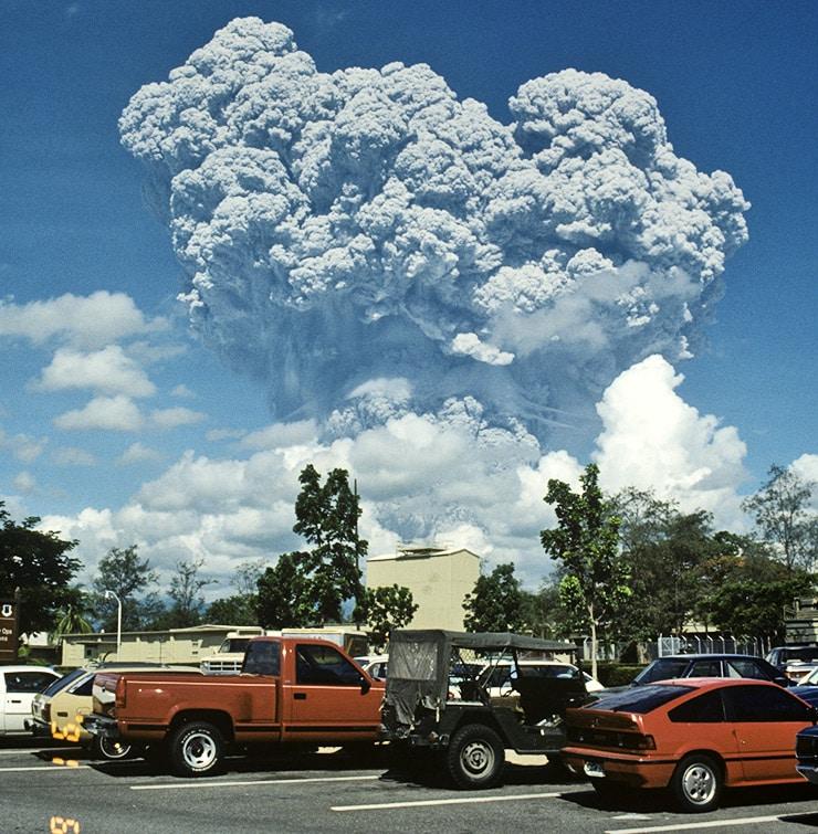 Mount Pinatubo volcanic eruption