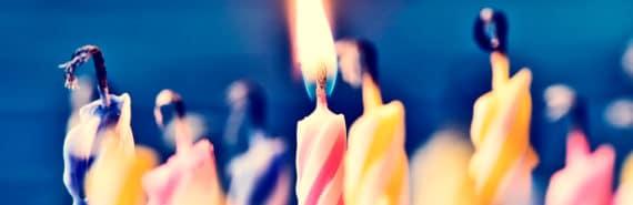 melting birthday candles