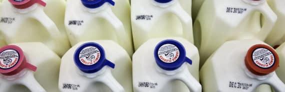 milk on the shelf
