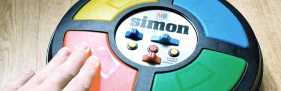 hand touches simon memory game