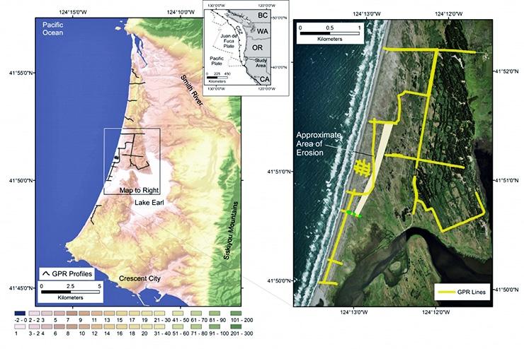 tsunami study map
