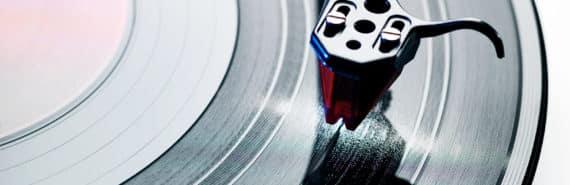 vinyl record grooves