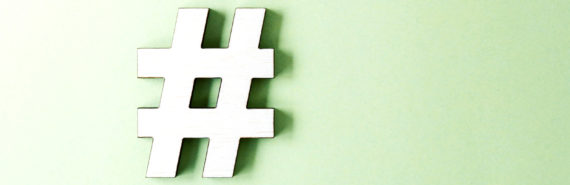 hashtag on green