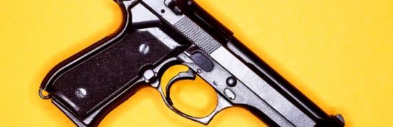 handgun on orange