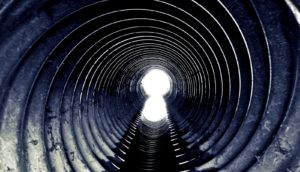 sewer tunnel (black hole concept)