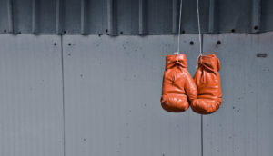 boxing gloves hanging (CRISPR for ALS concept)