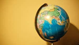 globe (poverty + maps concept)