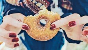 half-eaten donut
