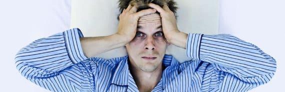 man who can't sleep (sleep and Alzheimer's concept)