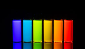 quantum dots in rainbow formation