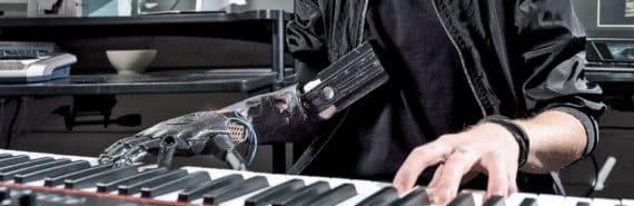 Jason Barnes plays piano