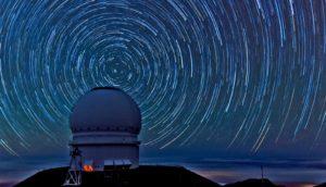 swirling stars (black holes + cosmic photobomb)