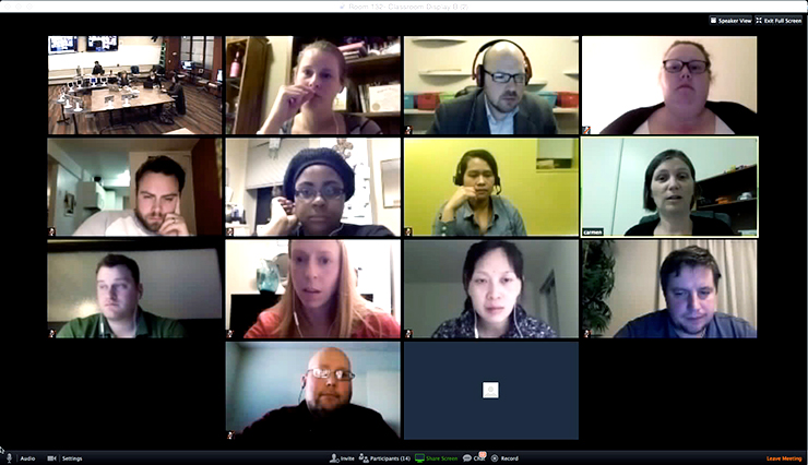 traditional videoconference (no robot learning)