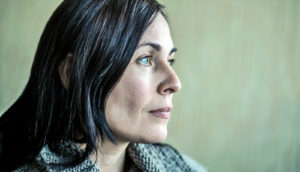 woman staring (chemo brain concept)