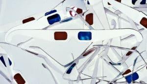 3D glasses on white (3D imaging + fat cells concept)