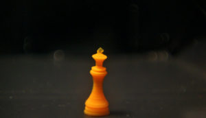 4d-printed hydrogel chess piece