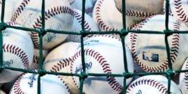 batting practice baseballs (baseball concept)