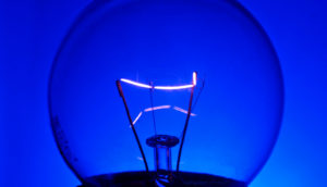 blue light bulb (blue light)