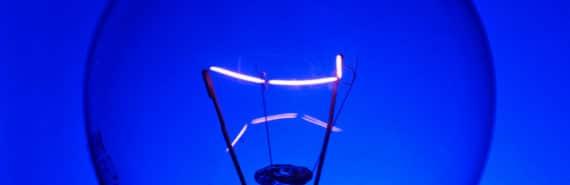 blue light bulb (blue light)