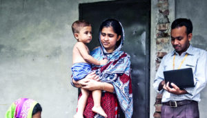 Mother and child from Bangladesh (sanitation and growth concept)