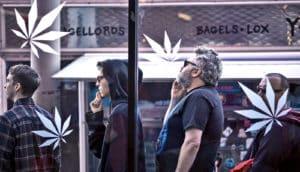 marijuana dispensary line