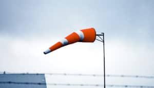 orange wind sock (jet streams concept)