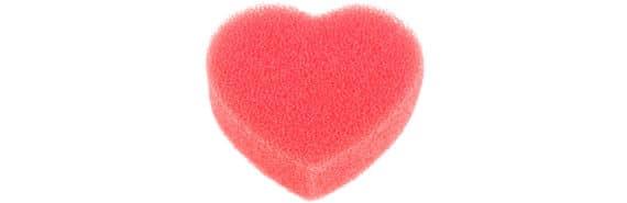 red sponge heart
