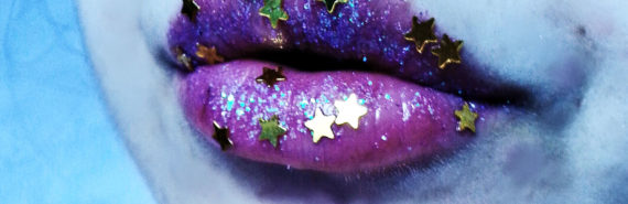 stars on lips (milky way eating galaxies concept)