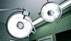 surgical lights (bariatric surgery concept)