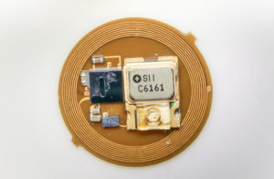 insides of tiny wearable device