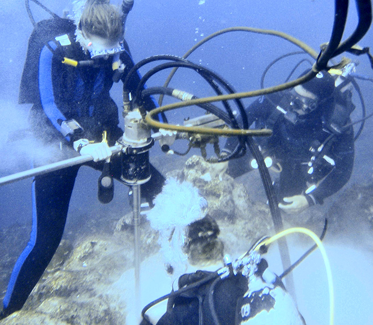 galapagos islands researchers drilling
