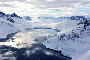 Greenland glacier front
