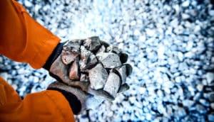 holding titanium