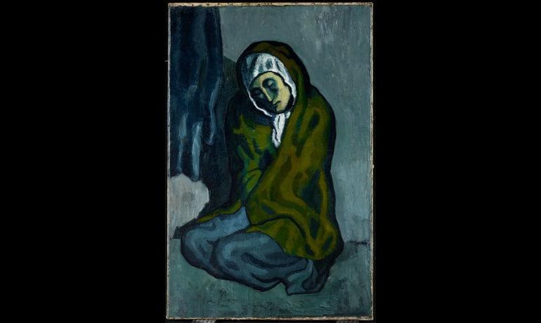 Pablo Picasso. La Miséreuse accroupie