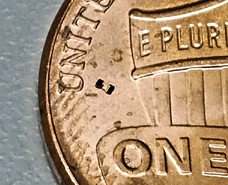 microbot on a penny