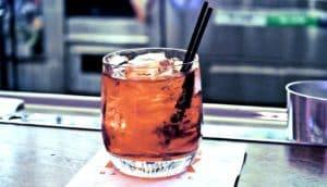 negroni on bar (alcohol concept)