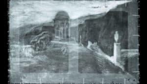 landscape under Picasso painting