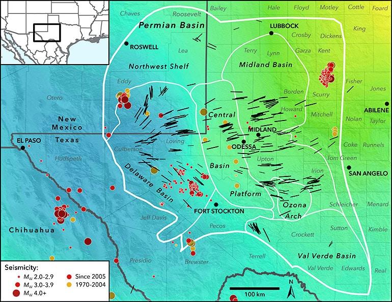 seismic stress map